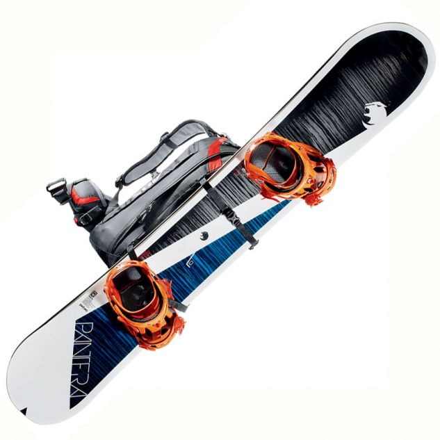 Hevederek segítségével rögzítheted snowboardod, sídet, sítúrabakancsod
