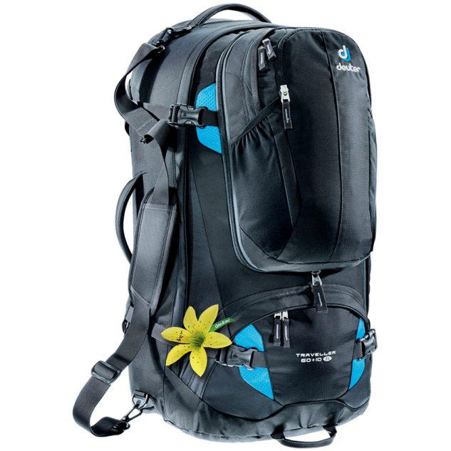 Deuter Traveller 60+10 SL black-turquoise (fekete-türkiz)