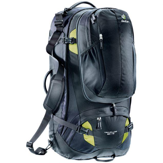 Deuter Traveller 80+10 black-moss (fekete-zöld)